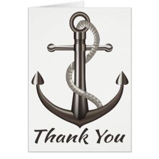 Tarjeta Náutico gracias enviar el boda del marinero del