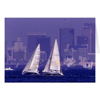 Tarjeta Navegando en San Diego, CA