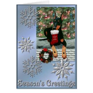 Tarjeta Navidad 2004 de Manchester Terrier