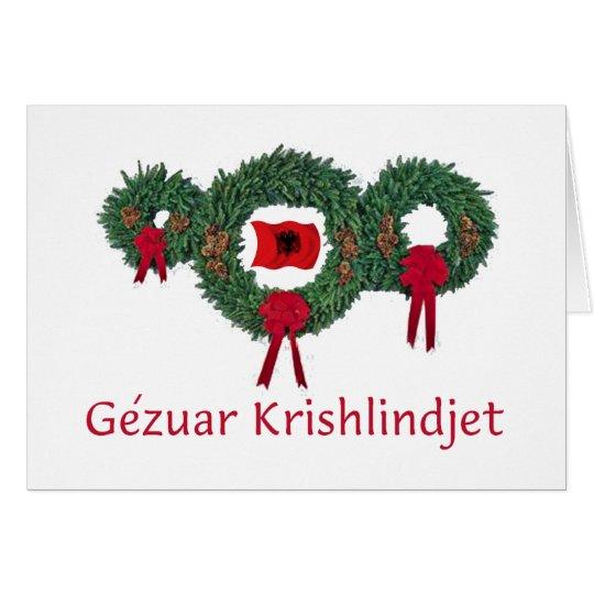 Tarjeta Navidad 2 de Albania