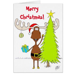 Tarjeta Navidad: Alces (felices)