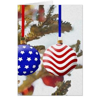 Tarjeta Navidad americano