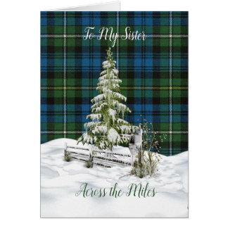 Tarjeta Navidad antiguo de la hermana de Campbell Argyle