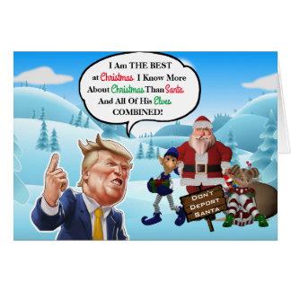 Tarjeta Navidad arrogante divertido del triunfo