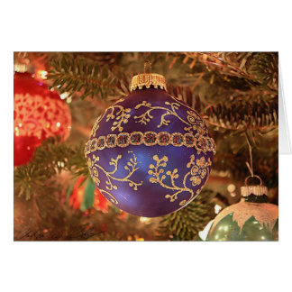 Tarjeta Navidad azul