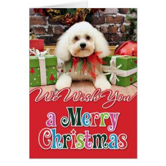 Tarjeta Navidad - Bichon Frise - Harry