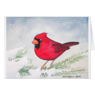 Tarjeta Navidad cardinal