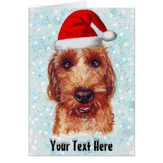Tarjeta Navidad Chester el Watercolour de Jackapoo