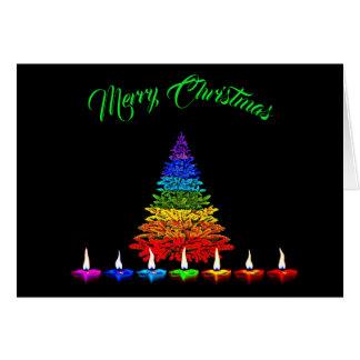 Tarjeta Navidad colorido
