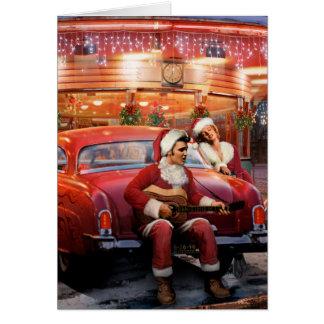 Tarjeta Navidad de Elvis y de Marilyn
