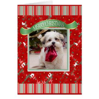 Tarjeta Navidad de encargo lindo del perro