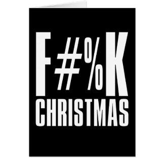 Tarjeta Navidad de F#%K