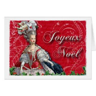 Tarjeta Navidad de Joyeux Noel Marie Antonieta