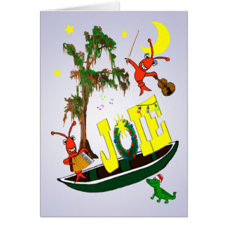 Tarjeta Navidad de la alegría de Cajun en francés