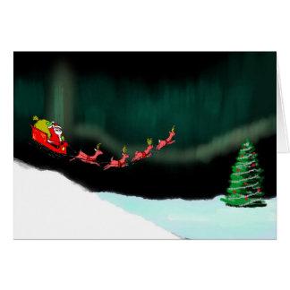 Tarjeta Navidad de la aurora