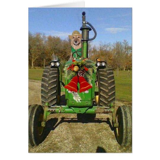 Tarjeta Navidad de la bendición de la granja