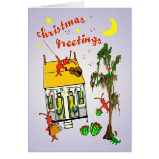 Tarjeta Navidad de la casa del pantano de Cajun