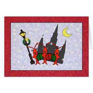 Tarjeta Navidad de la catedral de los cangrejos/de la