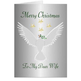 Tarjeta Navidad de la esposa