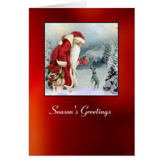 Tarjeta Navidad de la flora y del padre