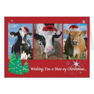 Tarjeta Navidad de la vaca