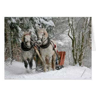 Tarjeta Navidad de los caballos de proyecto