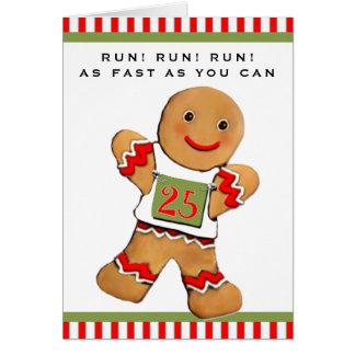 Tarjeta Navidad de los corredores