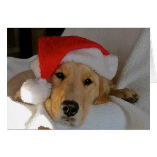 Tarjeta Navidad de oro