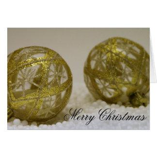 Tarjeta Navidad de oro Ornamentts