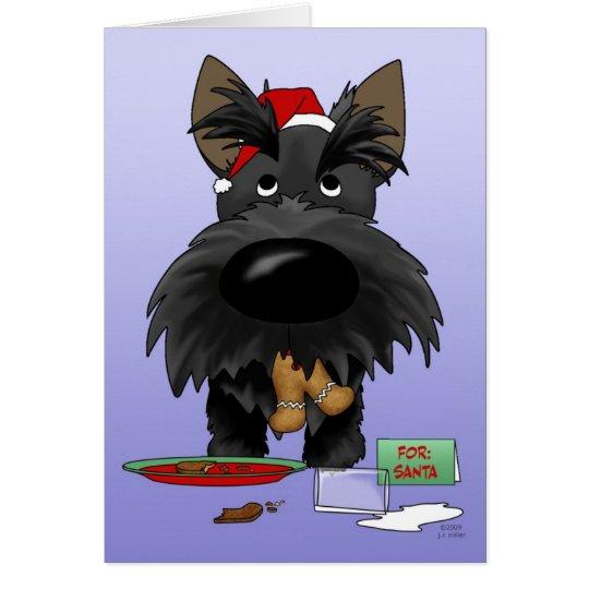 Tarjeta Navidad de Terrier del escocés