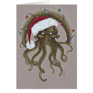 Tarjeta Navidad de un Cthulhu