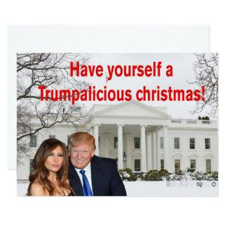 Tarjeta Navidad de un Trumpalicious de Donald y de Melania
