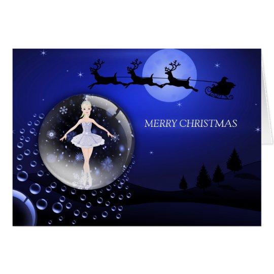 Tarjeta Navidad de una bailarina