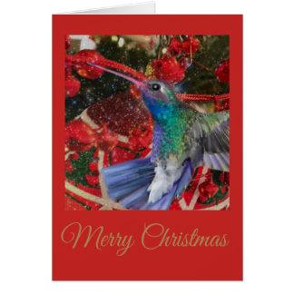Tarjeta Navidad del colibrí