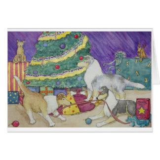 Tarjeta Navidad del collie