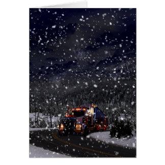 Tarjeta Navidad del conductor de camión