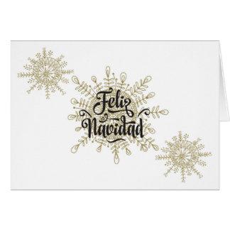 Tarjeta Navidad del español de Feliz Navidad