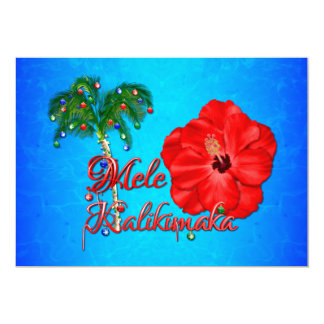 Tarjeta Navidad del Hawaiian de Mele Kalikimaka