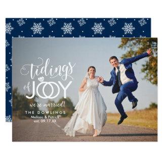 Tarjeta Navidad del recién casado del boda del día de
