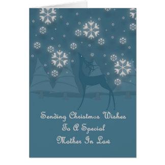Tarjeta Navidad del reno de la suegra