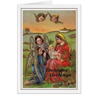Tarjeta Navidad del vintage