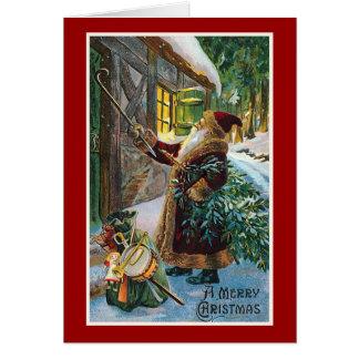 """Tarjeta """"Navidad del vintage de las Felices Navidad"""""""