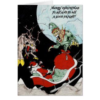 Tarjeta Navidad divertido