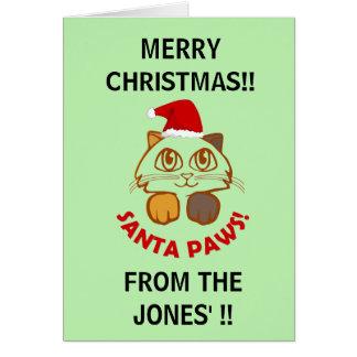 """Tarjeta """"Navidad divertido personalizado del gato de las"""