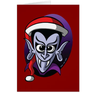 Tarjeta Navidad Drácula
