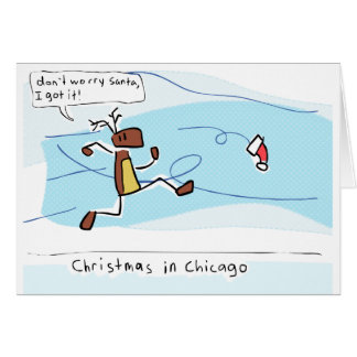 Tarjeta Navidad en Chicago