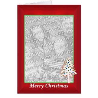 Tarjeta Navidad en el rojo (marco alto de la foto)