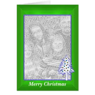 Tarjeta Navidad en el verde (marco alto de la foto)