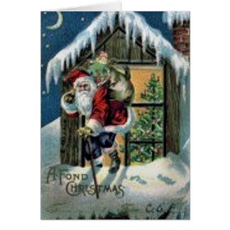 Tarjeta Navidad encariñado