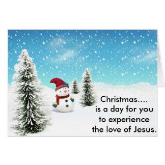 Tarjeta Navidad. es un día